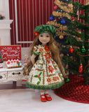 Splendid Poinsettia - dress ensemble for Ruby Red Fashion Friends doll