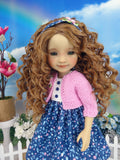 Spring Posies - dress and sweater with shoes for Ruby Red Fashion Friends doll