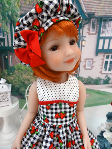 Strawberry Gingham - dress for Ruby Red Fashion Friends doll