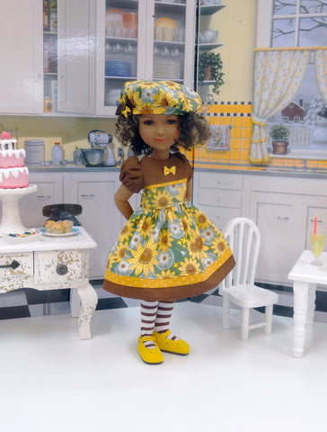 Sunflower Meadow - dress for Ruby Red Fashion Friends doll