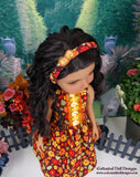 Sunset Daisies - dress with shoes for Ruby Red Fashion Friends doll