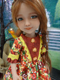 Sunset Pansies - dress for Ruby Red Fashion Friends doll
