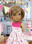Surprise Cupcakes - dress with shoes for Ruby Red Fashion Friends doll