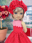 Teenie Hearts - dress ensemble with shoes for Ruby Red Fashion Friends doll