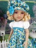 Turquoise in Spring - dress and shoes for Ruby Red Fashion Friends doll