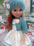 Vintage Reindeer - dress & sweater ensemble for Ruby Red Fashion Friends doll