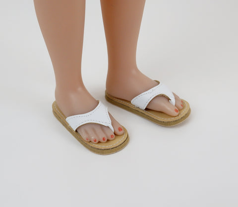 Thong Sandals - White