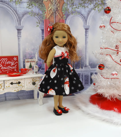 Winter Santa - dress with shoes for Ruby Red Fashion Friends doll