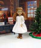 Winter Village - dress & pinafore for Ruby Red Fashion Friends doll
