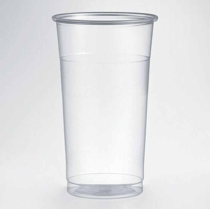 Clear Disposable Plastic Tumbler/Hi Ball Glass - CE Marked 2/3rd of a Pint