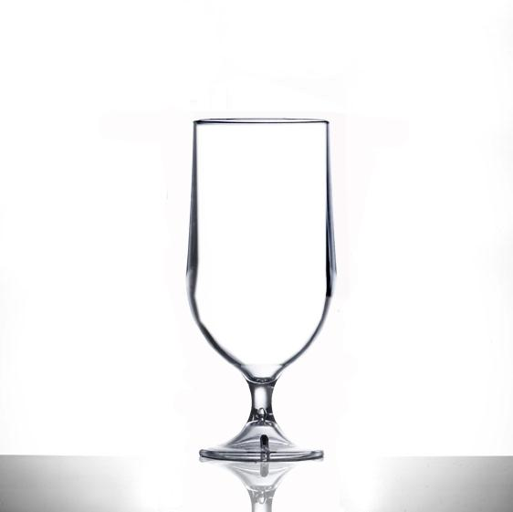 Clear Reusable Plastic Goblet Half Pint Glass 285ml  - Polycarbonate