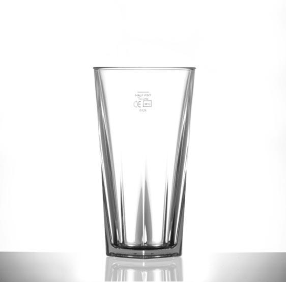 Clear Reusable Plastic Penthouse Tumbler Glass 340ml CE Stamped - Polycarbonate