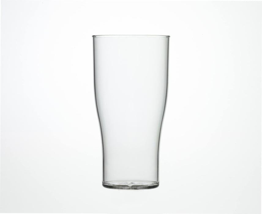 Clear Reusable Plastic Tulip Pint Glass 568ml - Crystal Polystyrene CE Stamped to Rim