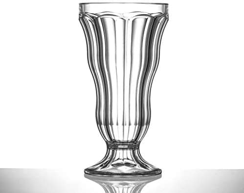 Clear Reusable Plastic Knickerbocker Glory Glass 340ml - Polycarbonate