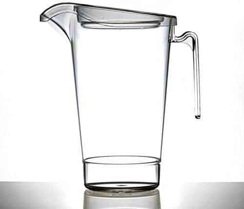 4 Pint Clear Reusable Stacking Plastic Jug 2272ml - Polycarbonate