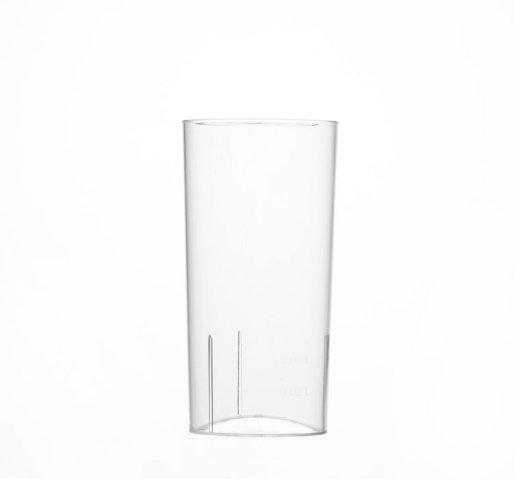 Clear Disposable Plastic Hi-ball Glass 195ml - Crystal Polystyrene