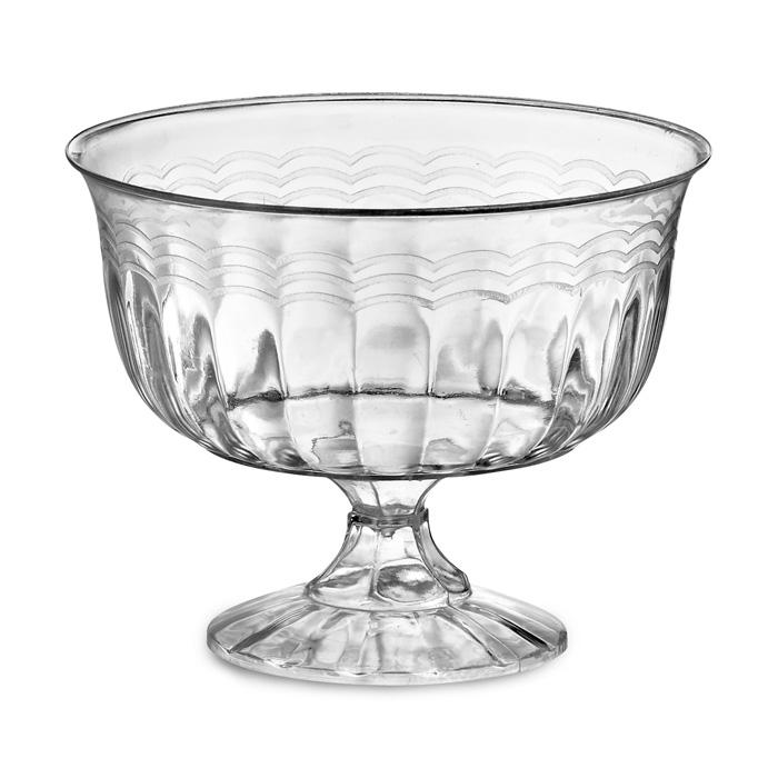Clear Disposable Plastic Stemmed Bowl 227ml Pack of 10.