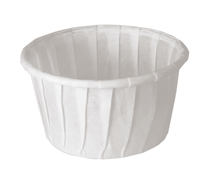White Compostable Soufflé Pot 37ml - Paper