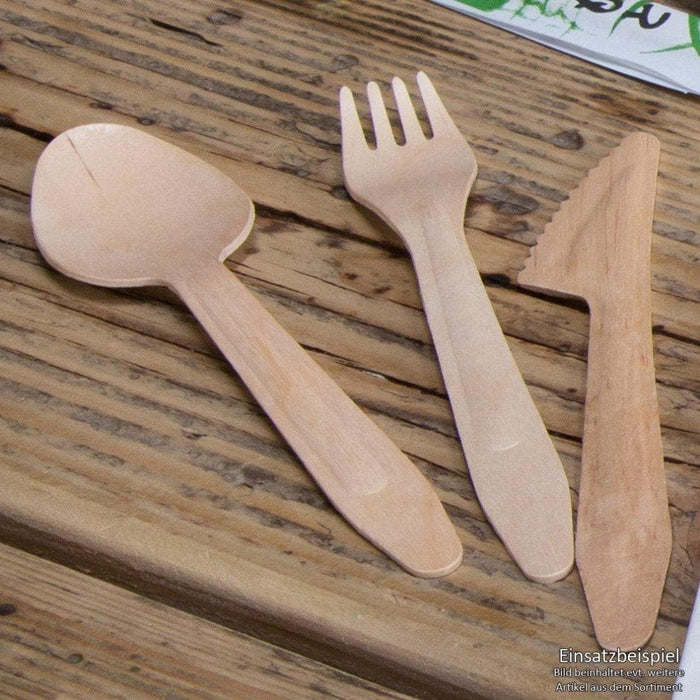 Compostable Wooden Spoon 165mm - Wood