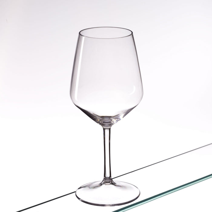 Clear Reusable Plastic Premium Blow Moulded Wine Glass 470ml - Tritan