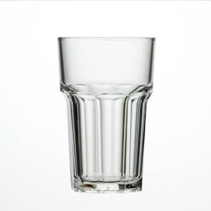 Clear Reusable Plastic Half Pint Glass 284ml  - Polycarbonate