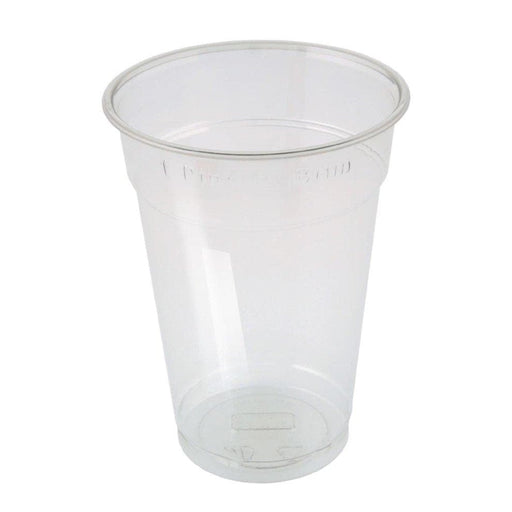 Pint To Brim Disposable Cups Clear Strong Plastic Half Pint CE MARKED