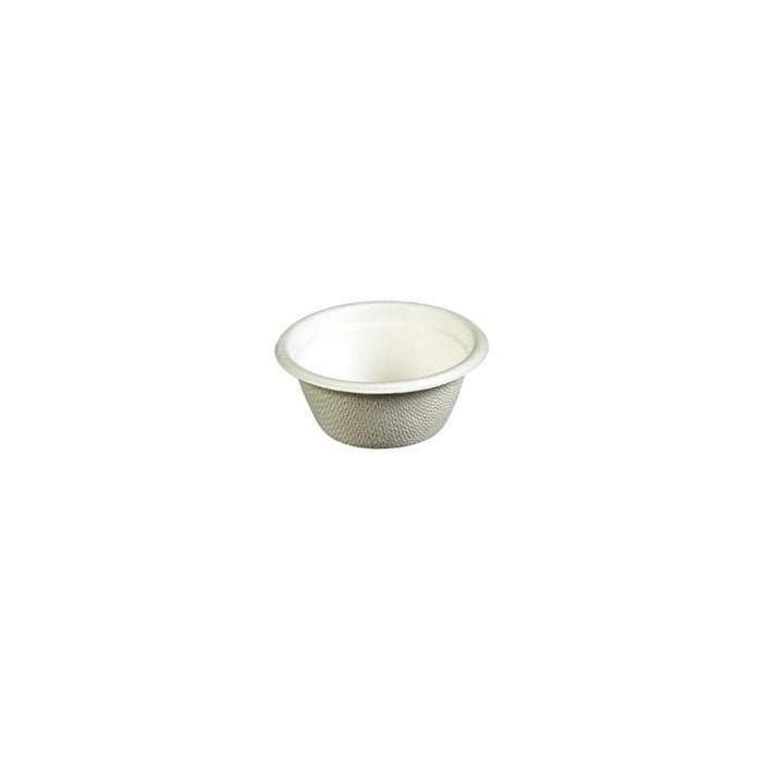 White Compostable Sample Pot 60ml - Reed Pulp