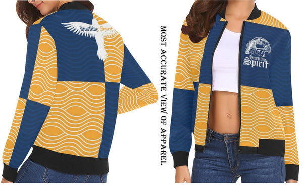 Raven Blue and Yellow Female Flight Jacket