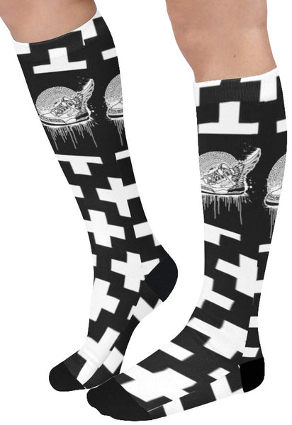 Footsteps Cross Knee High Socks (Qty 1)