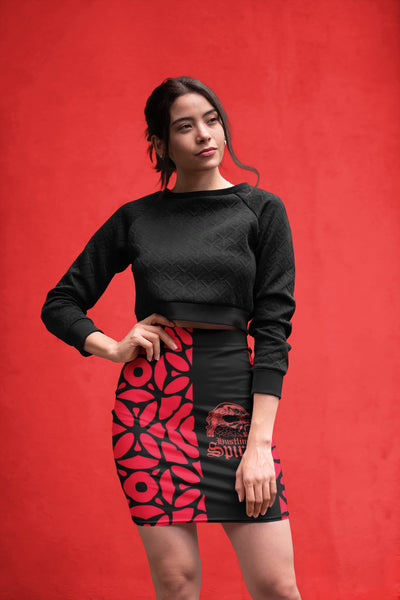 Raven Red Symphony Pencil Skirt