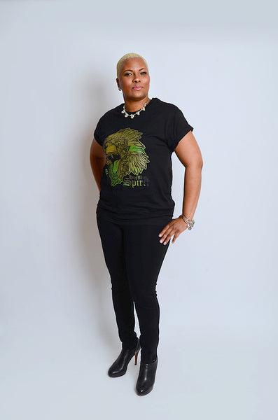 Fearless Lion Army Green Tee