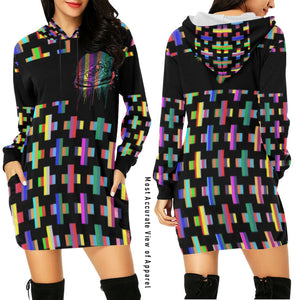 Footsteps Cross MultiColor Hoody Dress