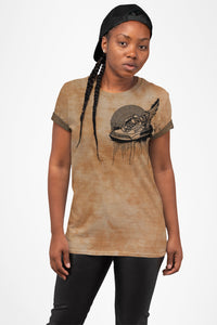 Footsteps Tie Dye Sand All Over Print Tee