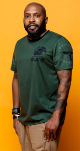 Raven X Fearless Flag Unisex Crew Neck Tee Green