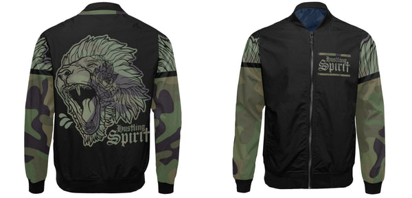 Fearless Lion Army Flight Jacket