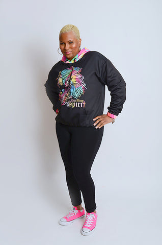 Fearless Lion Multi Color Hoody II
