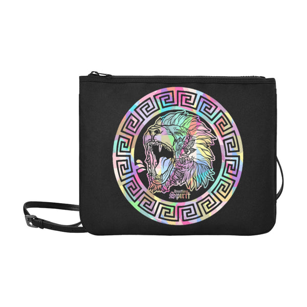 Fearless Lion Multi Color Slim Clutch Bag