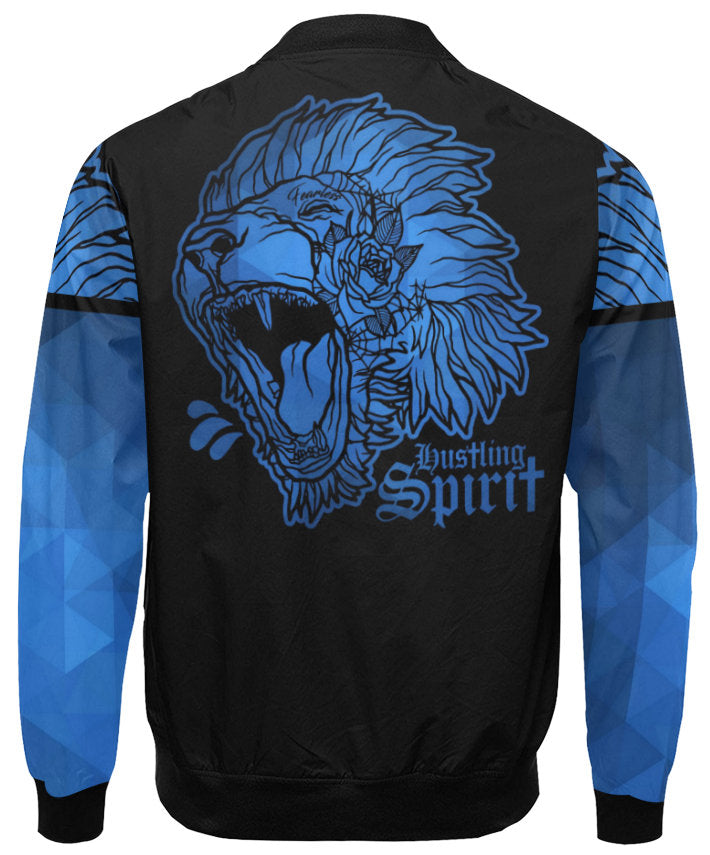 Fearless Lion Navy Blue Flight Jacket