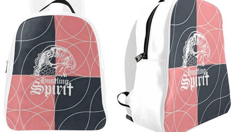 Raven Peach and Gray Small Backpack