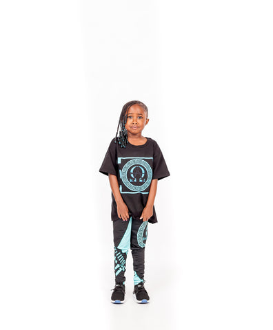AΩ Alpha & Omega Kids Leggings Turquoise