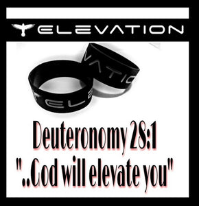 """ELEVATION"" 1-inch Silicone Wristband (*Debossed )"