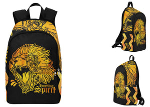 Fearless Lion Gold Fabric Backpack