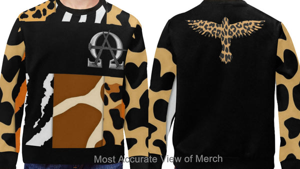AΩ Animal Print Crew Neck Sweatshirt (Kids Sizes)