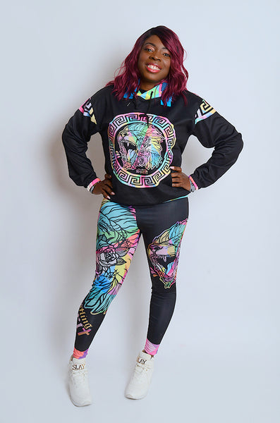 Fearless Lion Multi Color Hoodie (Unisex)