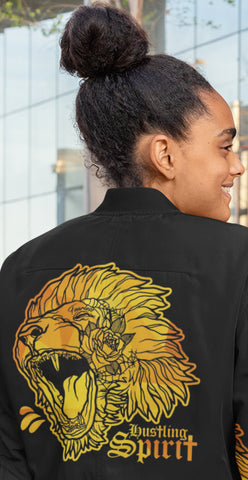 Fearless Lion Gold Unisex Flight Jacket