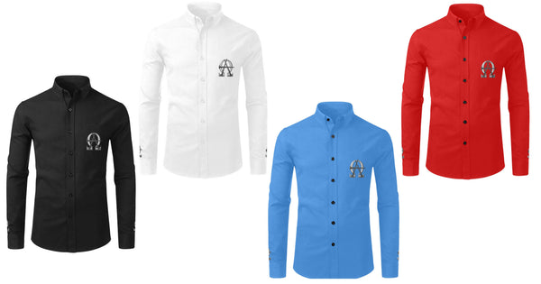 AΩ Long Sleeve Button-Up