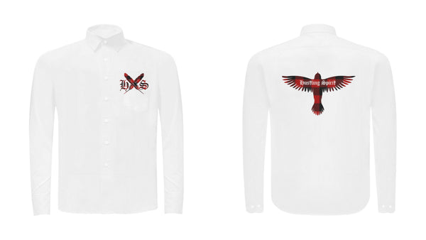 Red Feathers Unisex Button Up Long Sleeve Shirt