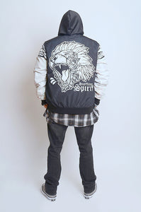 Fearless Lion BW Flight Jacket