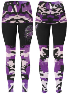 Footsteps Lavender Camo Leggings