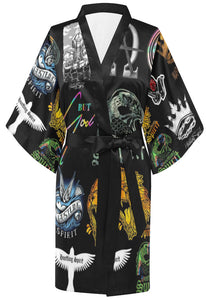 HS Limited Edition All Over Stickers Kimono Robe